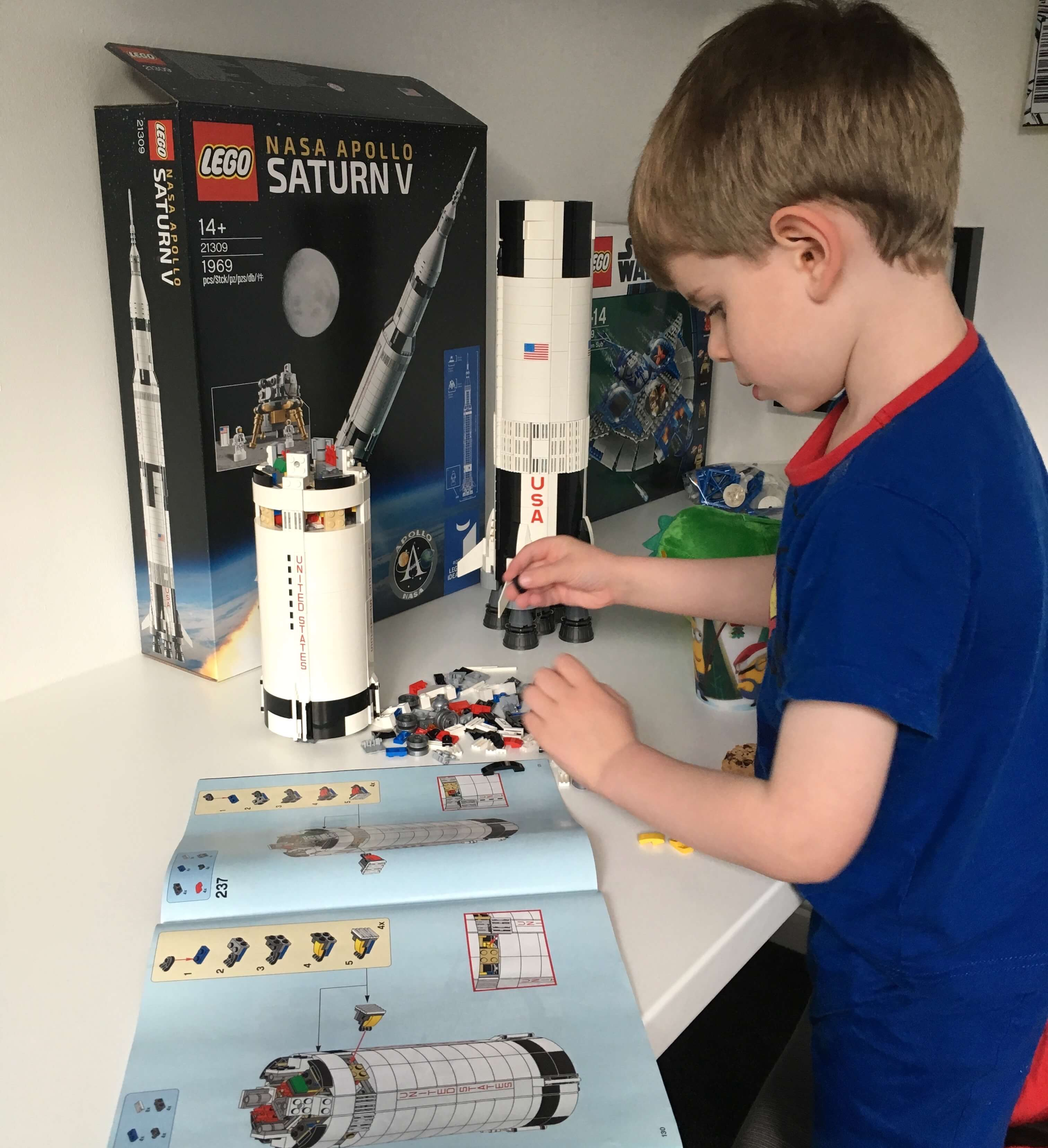 Building Lego Saturn V Rocket